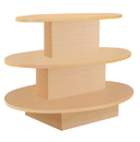 AMKO Displays W3T-M Oval 3 Tier Table, 60