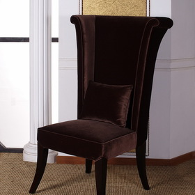 Armen Living LC847SIBR 847 Mad Hatter Dining Chair-Dining Chair