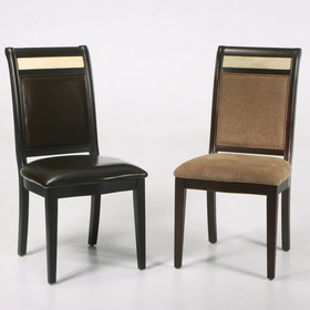 Armen Living LCB385SIES B385 Beige Chenille W/ Marble Inlay Side Chair 2/Pack