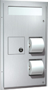 ASI 0482 Dual Access Seat Cover And Toilet Tissue Dispenser With Sanitary Disposal