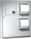 ASI 04833 Dual Access Toilet Tissue Dispenser With Napkin Disposal