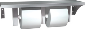 ASI 0697-GAL Stainless Steel Shelf And Double Toilet Tissue Holder