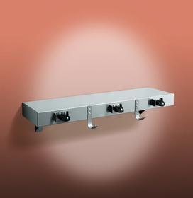 """ASI 1315-3 Shelf/Utility Hook & Mop Strip w/Drying Rod (2 Hooks, 3 Holders) 30"""""""