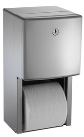 ASI 20030 Surface Mounted Twin Hide-A-Roll Toilet Tissue Dispenser