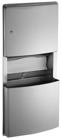 ASI 204623 Recessed Paper Towel Dispenser And Removable Waste Receptacle