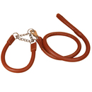 GOGO Dog Leash And Martingale Collar Set, Rolled Faux Leather Collars & Leashes