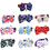 TopTie Dog Cat Pets Collar/Bow-Tie with Bell, Adjustable, 10 Pcs Assorted