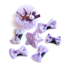 TopTie Star Topknot Pet Hair Bow Beautiful Pet Puppy Grooming Bows Supplies, Set of 7