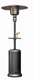 PrimeGlo HLDS01-CBT Tall Outdoor Patio Heater with Table- Hammered Silver