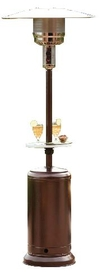 "PrimeGlo HLDS01-CGT 87"" Tall Outdoor Patio Heater with Table- Hammered Gold"