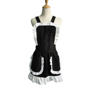 Aspire French Maid Women's Apron Ruffles Ladies Fancy Maid Apron with Pockets Kitchen Aprons