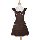 Aspire Cute Aprons Lace Pockets Bowknot Cooking Apron For Women Kitchen Party Skirt
