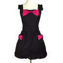 Aspire Bowknot Aprons For Women Kitchen Cooking Apron With Pockets For Crafting Baking Cleaning