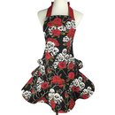 Aspire Women's Fashion Floral Cotton Chef Cooking Cook Apron Bib with Pockets Skirt Dress Design