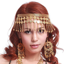 BellyLady Belly Dance Tribal Metal Headband With Gold Coins, Gypsy Egyptian Jewelry, Belly Dance Costume Accessories