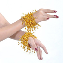 BellyLady Belly Dance Gold Elastic Bracelets / Wrist Bands, Price/Pair