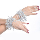 BellyLady Belly Dance Silver Elastic Bracelets / Wrist Bands, Price/Pair
