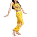 BellyLady Children Belly Dance Costume, Yellow Harem Pants & Top Sets