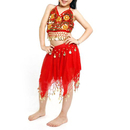 BellyLady Kid Egyptian Belly Dance Costume, Skirt & Halter Top Sets, Red