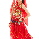 BellyLady Kid Belly Dance Costume, Harem Pants & Halter Top For Christmas