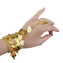 TopTie Belly Dance Triangle Bracelet Gypsy Jewelry, 1 Pair
