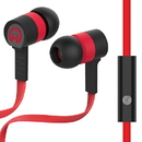 HyperGear Low Ryder Earphones w/Mic, Red/Black