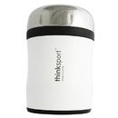 Thinksport TNK-04729 Insulated Food Container W/ Spork, White - White