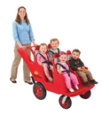 Angeles AFB6300FA Bye-Bye Buggy 4-Passenger With All Terrain Fat Tires -Red W/Gray Seat Cushions