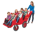 Angeles AFB6400FA Bye-Bye Buggy 6-Passenger With All Terrain Fat Tires - Red W/Gray Seat Cushions