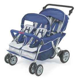 Angeles AFB6600 4 Passenger Surestop Folding Commercial Bye-Bye Stroller
