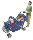 Angeles AFB6700 6 Passengersurestop Folding Commercial Bye-Bye Stroller