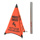 Handy Cone 31016D Caution Wet Floor English/Spanish/Orange/31