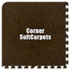 Alessco SoftCarpets SCBN0202C, Brown, 2' x 2' Corner / Each, Total Piece: 1