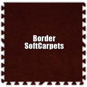 Alessco SoftCarpets SCBY0202B, Burgundy, 2' x 2' Border / Each, Total Piece: 1