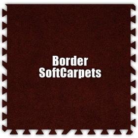 Alessco SoftCarpets SCBY0202B, Burgundy, 2' x 2' Border / Each, Total Piece: 1