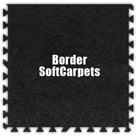 Alessco SoftCarpets SCCL0202B, Charcoal, 2' x 2' Border / Each, Total Piece: 1