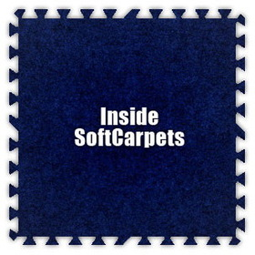 Alessco SoftCarpets SCRB0202I, Royal Blue, 2' x 2' Inside / Each