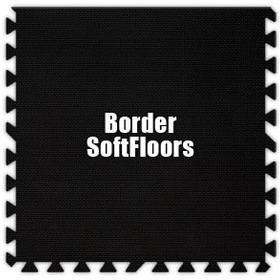 Alessco SoftFloors SFBK0202B, Black, 2' x 2' Border / Each, Total Piece: 1