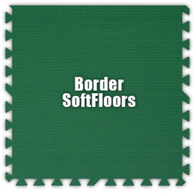 Alessco SoftFloors SFGN0202B, Green, 2' x 2' Border / Each, Total Piece: 1