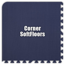 Alessco SoftFloors SFNB0202C, Navy Blue, 2' x 2' Corner / Each, Total Piece: 1