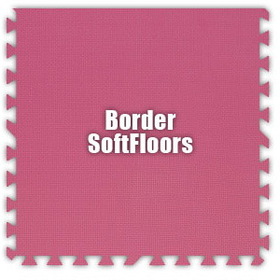 Alessco SoftFloors SFPK0202B, Pink, 2' x 2' Border / Each, Total Piece: 1