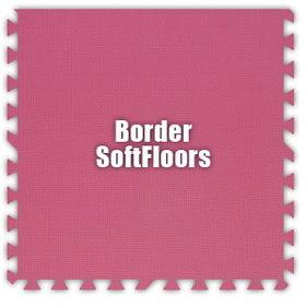 Alessco SoftFloors SFPK0202B, Pink, 2' x 2' Border / Each, Total Piece: 1