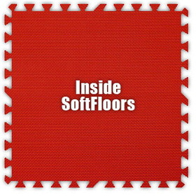 Alessco SoftFloors SFRD0202I, Red, 2' x 2' Inside / Each
