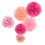 Aspire Pom Poms, Pink Tissue Paper Flower, Party Favors