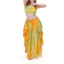 BellyLady Gypsy Belly Dance Costume, Tribal Tie-dye Belly Dance Top And Skirt