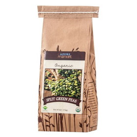 Azure Farm Green Split Peas, Organic, BE059, Price/40 ozs