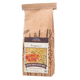 Azure Farm Quick Bean Soup Mix, Organic - 4 x 29.5 ozs.