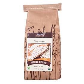 Azure Farm Organic White Beans, Small, Navy - 4 x 39 ozs.