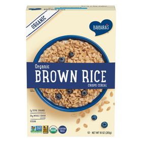 Barbara's Bakery Organic Brown Rice Crisps, (Gluten free) - 3 x 10 ozs.