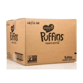 Barbara's Bakery Puffins, Peanut Butter, Wheat Free, CE275, Price/12 x 11 ozs